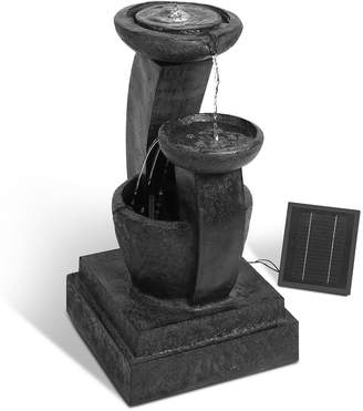 Dwell Outdoor 3 Tier Cascading Solar Powered Water Fountain