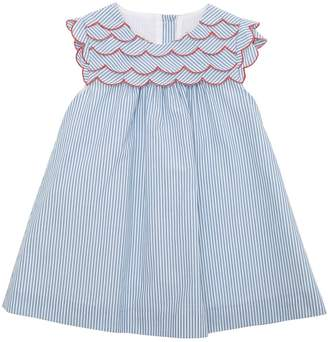 Striped Poplin Dress & Diaper Cover