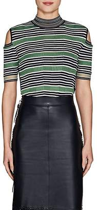 Fendi Women's Cutout Striped Cable-Knit Top