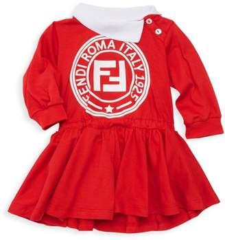Fendi Baby Girl's Logo Sweatshirt Dress