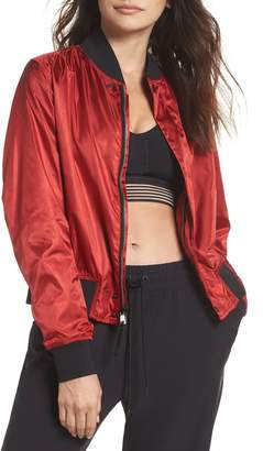 Nike Collection Women's Satin Bomber Jacket