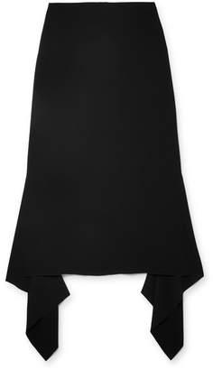 Joseph Stevie Asymmetric Crepe Midi Skirt - Black