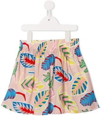 Stella McCartney tropical leaf print skirt