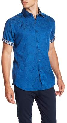 Robert Graham Gypsy Short Sleeve Classic Fit Print Woven Shirt
