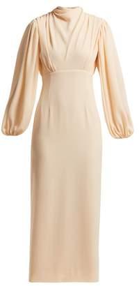 Emilia Wickstead Niamh Draped Crepe Midi Dress - Womens - Ivory