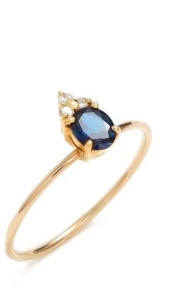 Women's Poppy Finch Skinny Stone Sapphire & Diamond Ring $690 thestylecure.com