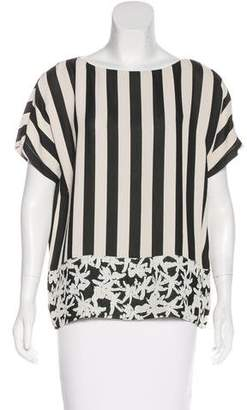 Kenzo Striped Short Sleeve Blouse