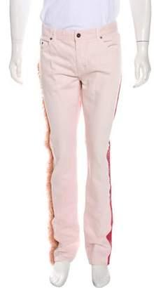 Saint Laurent D02 Embellished Skinny Jeans