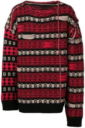 Calvin Klein geometric knitted jumper