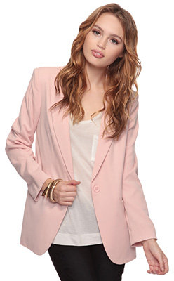 Forever 21 Single Button Boyfriend Blazer
