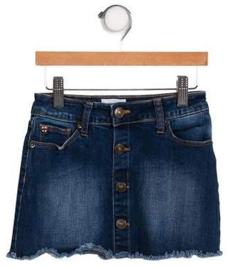 Hudson Girls' Raw-Edge Mini Skirt