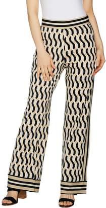 C. Wonder Regular Pull-On Printed Knit Pants with Tuxedo Stripe