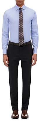 Barneys New York MEN'S MICRO-CHECK TRIM FIT DRESS SHIRT