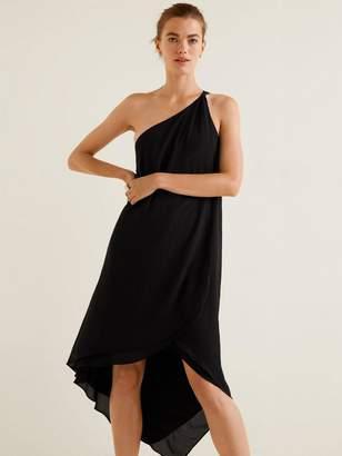f70f76f4c3d585 MANGO Amilia Asymmetric One Shoulder Dress - Black