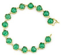 Irene Neuwirth Brilliant Cut Chrysoprase Bracelet - Yellow Gold