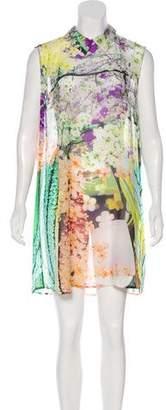 Mary Katrantzou Floral Print Silk Mini Dress