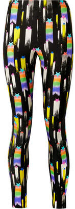 Gucci Printed Stretch-jersey Leggings - Black