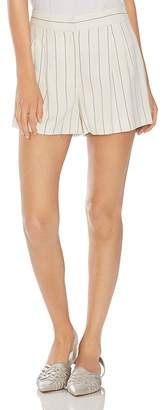 Vince Camuto Pleated Pinstriped Shorts