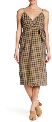 Love + Harmony Plaid Tie Waist Belt Dress