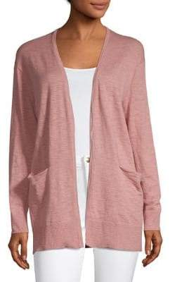 Madewell Open-Front Cotton Blend Cardigan