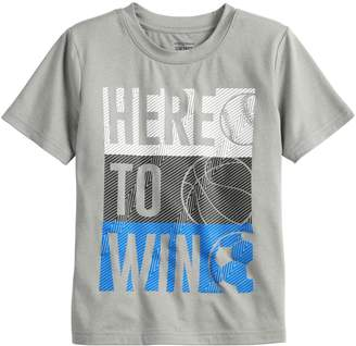 "Boys 4-12 Jumping Beans ""Here To Win"" Sports Active Tee"