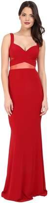 Faviana Jersey Gown w/ Illusion Cut Outs 7744 Women's Dress
