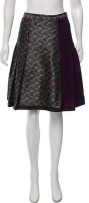 Behnaz Sarafpour Metallic Knee-Length Skirt