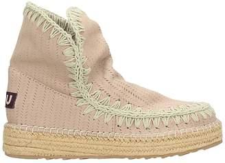 Mou Beige Leather Eskimo 18 Boots
