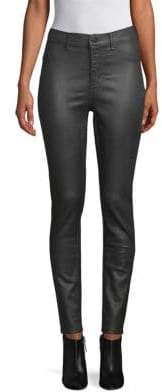 Leather-Look Skinny Jeans