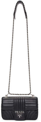 Prada Black Diagramme Chain Shoulder Bag