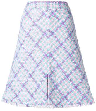 Moschino checked A-line skirt