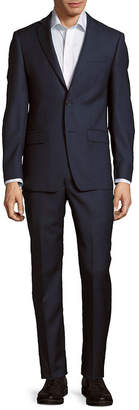 Michael Kors Solid Textured Wool Suit