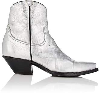 R 13 Women's Metallic Leather Cowboy Boots