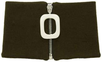 J.W.Anderson Khaki Zip-Up Neck Scarf