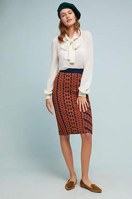 Maeve Geometric Pencil Skirt