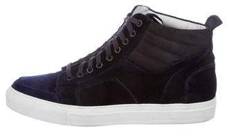 Del Toro Velvet High-Top Sneakers