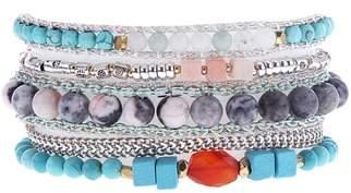 Nakamol Design Multi Stone Cuff Bracelet