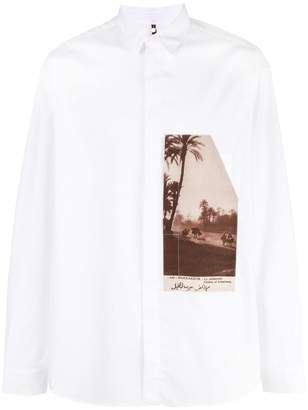 Oamc graphic print shirt