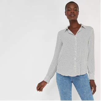 Joe Fresh Women's Print Blouse, Optic White (Size S)