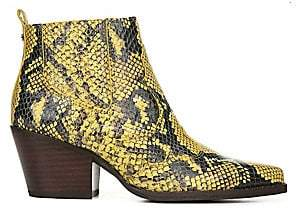 Sam Edelman Women's Winona Snake Print Leather Ankle Boots