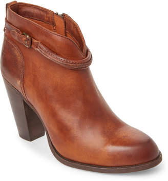 Frye Cognac Jenny Seam Short Leather Booties