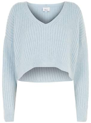 3.1 Phillip Lim V-Neck Cropped Sweater