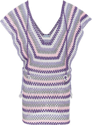 MY BEACHY SIDE Crochet Mini Dress