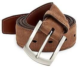 Saks Fifth Avenue Ribbed Nubuck Leather Belt