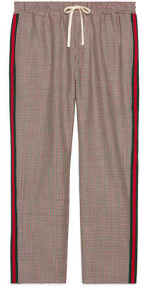 Gucci Houndstooth wool mohair pant