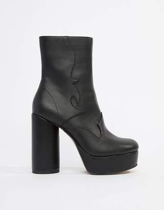 Asos Design DESIGN Evade Western Platform Boots