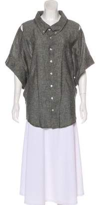 Grey Ant Woven Short Sleeve Button-Up