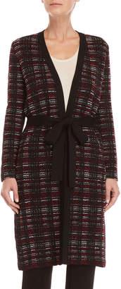 Carolina Herrera Tweed Belted Cardigan