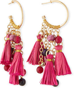 Akola Tassel & Cluster Hoop Earrings