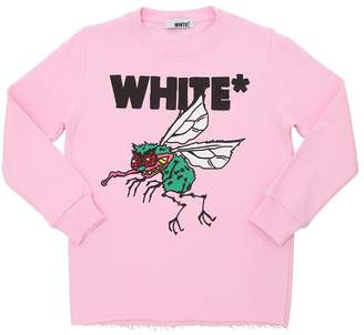 Fly London White Printed Cotton Sweatshirt